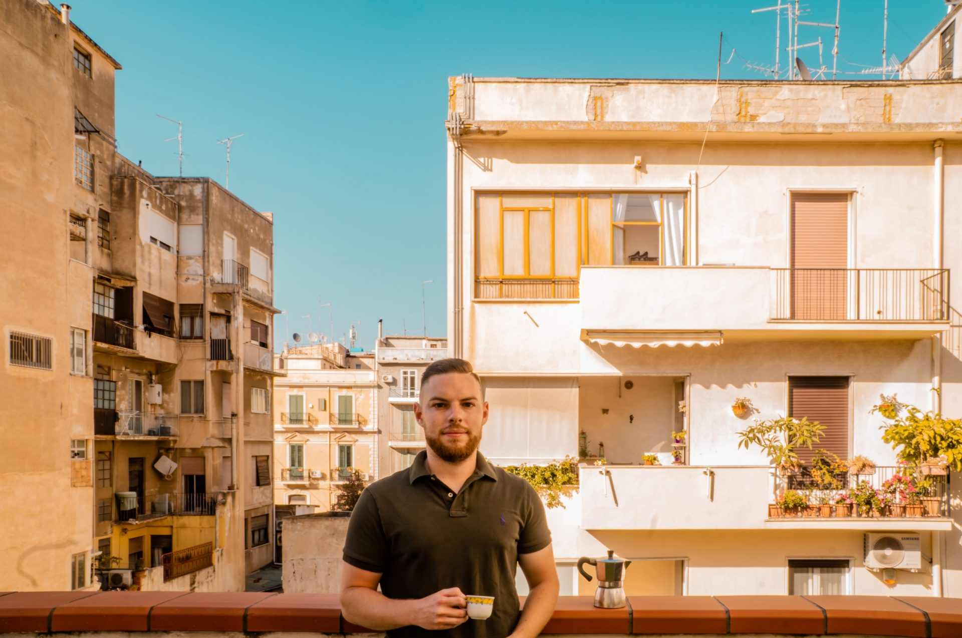Jack Roaming about pic - Balcony in Reggio Calabria, Italy