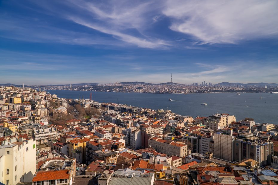 A Comprehensive Guide to Istanbul for Digital Nomads - the Bosporus Strait seen from the European side