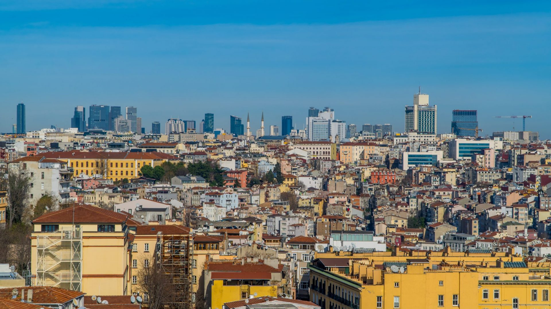 A Comprehensive Guide to Istanbul for Digital Nomads - the area of Beyoglu seen from Galata Tower