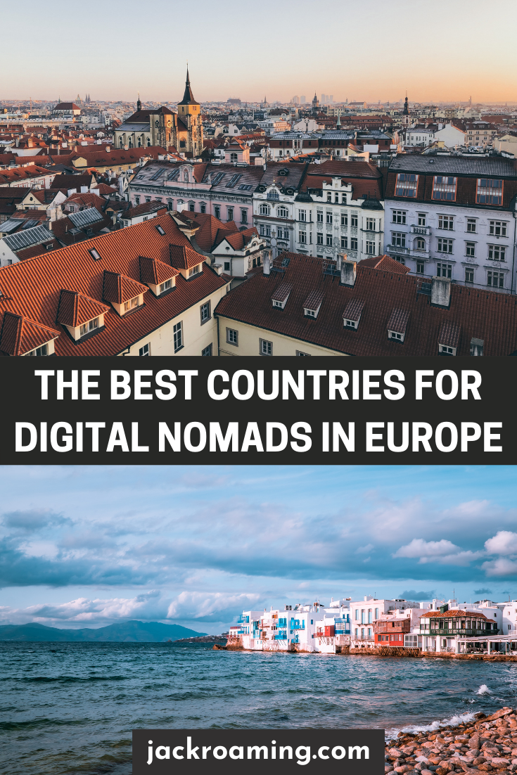 Best countries for digital nomads in Europe - pinterest pin 2