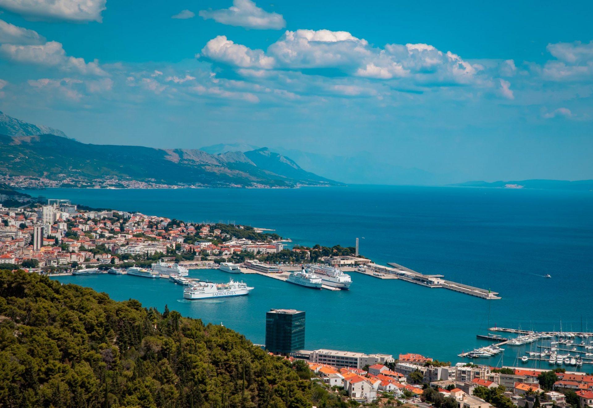 Best places to go in Croatia as a digital nomad - panoramic view of Split, the second largest city