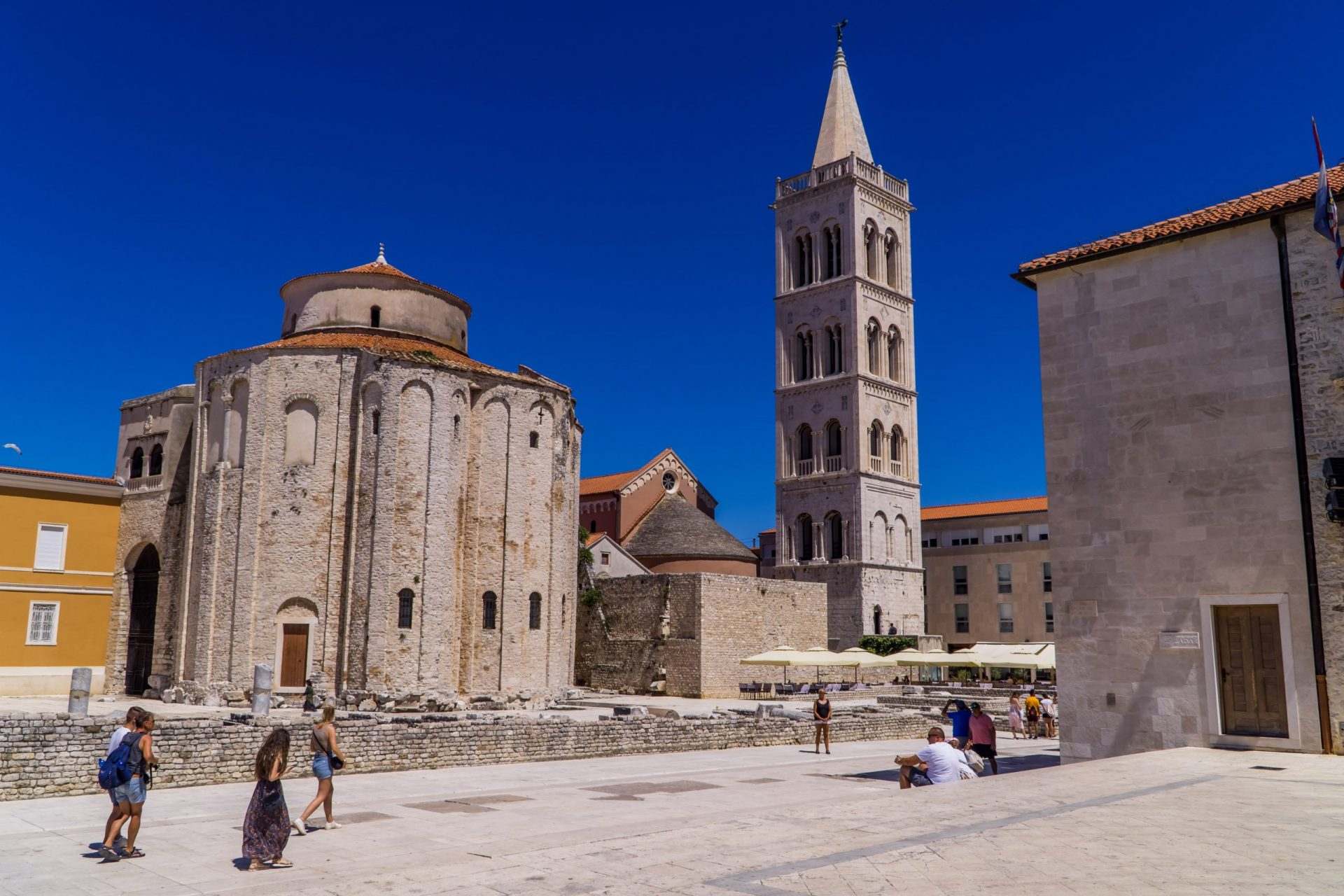 Best places to go in Croatia as a digital nomad - the Old Town of Zadar