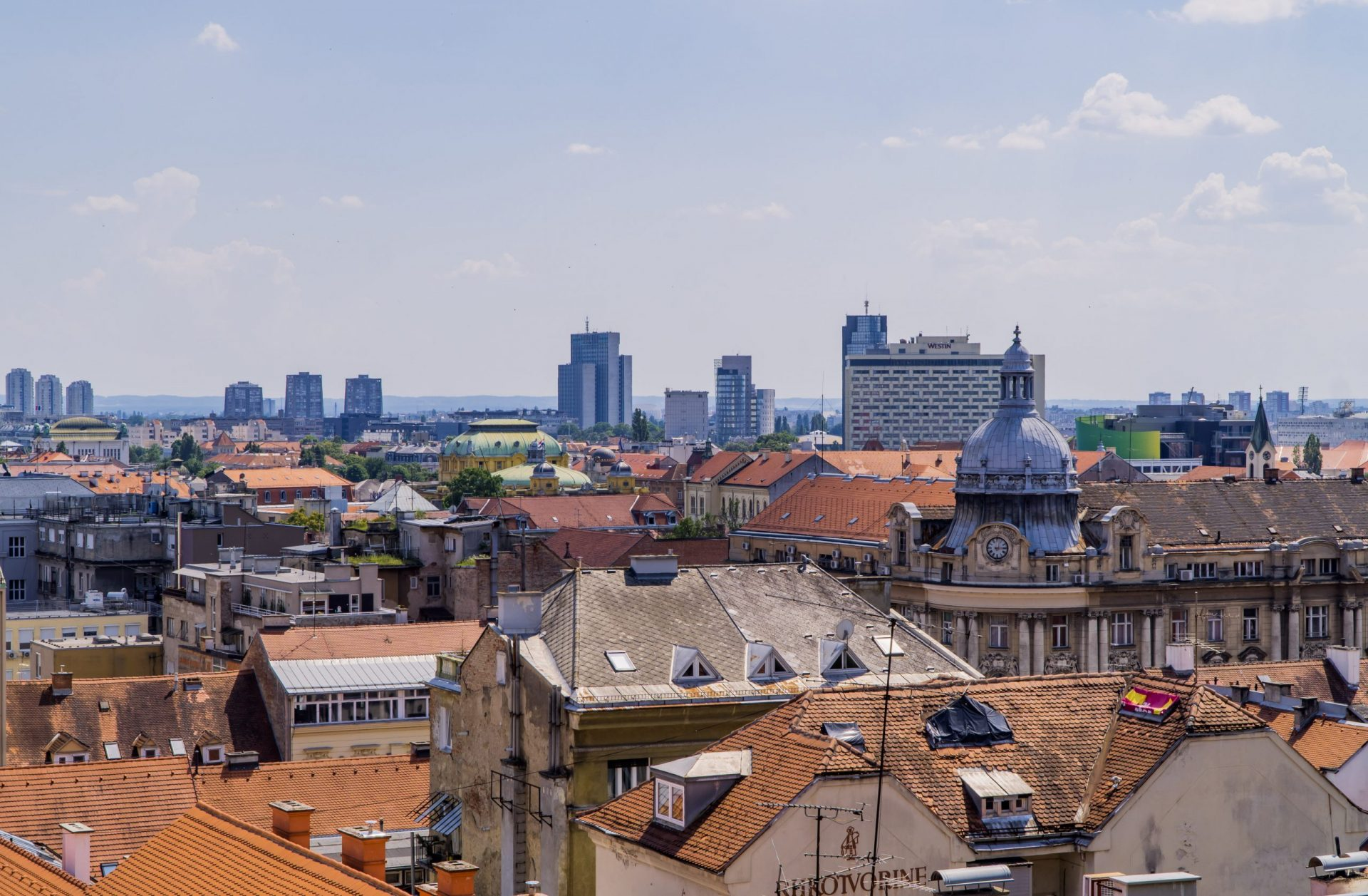 Croatia Digital Nomad Guide - City view of Zagreb