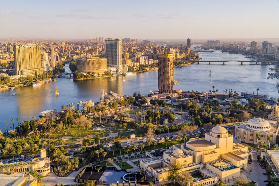 Top places to visit in Cairo - featured - panorama view of Cairo from Cairo Tower