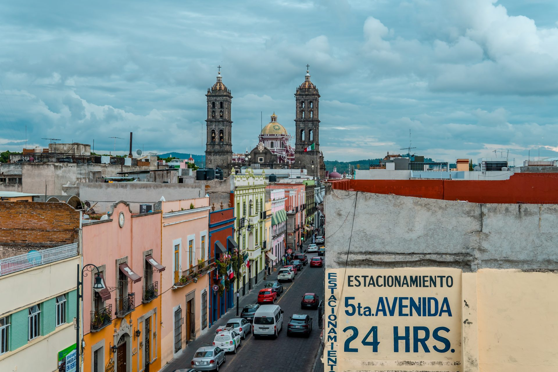 Best Things to do in Puebla, Mexico - Puebla Cathedral aerial view with houses