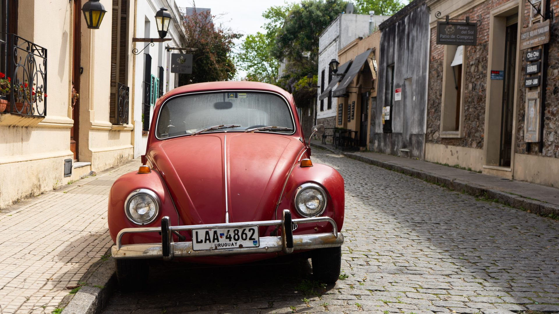 Best Places to Visit in Uruguay - VW Beetle in Colonia del Sacramento