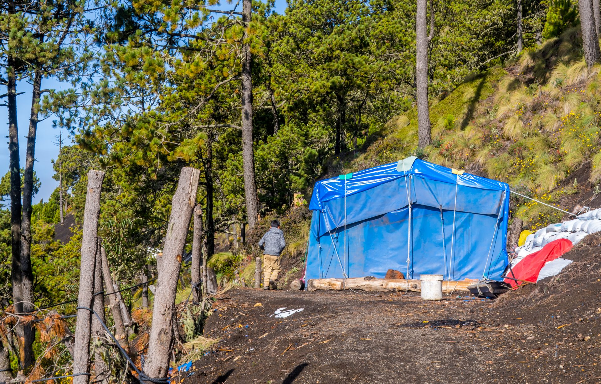 Acatenango in Guatemala - tents in the camp
